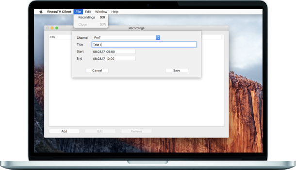 finessTV - Blog: Server and client 1 4 for Mac available